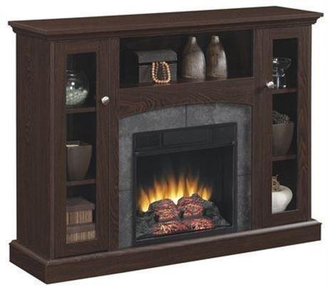 Mueble calefactor chimenea el ctrica contempor nea 121cm r - Chimenea electrica mueble ...