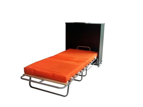 mueble cama plegable 1 plaza en melamine 18mm +colchon