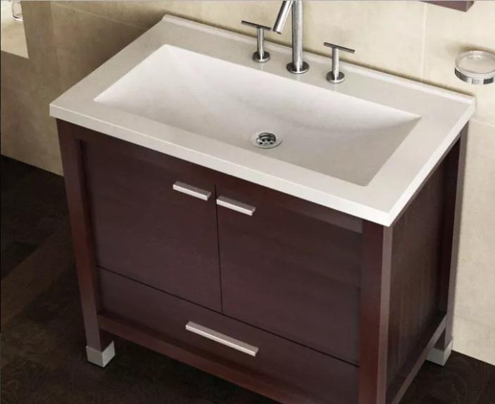 Mueble Campi Zebrano 80 Cm C/ Bacha - Acon Materiales. - $ 11.735,00 ...
