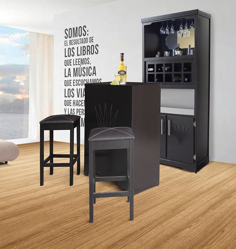 mueble cantina bar casa madera modernas minimalista On bar casa minimalista