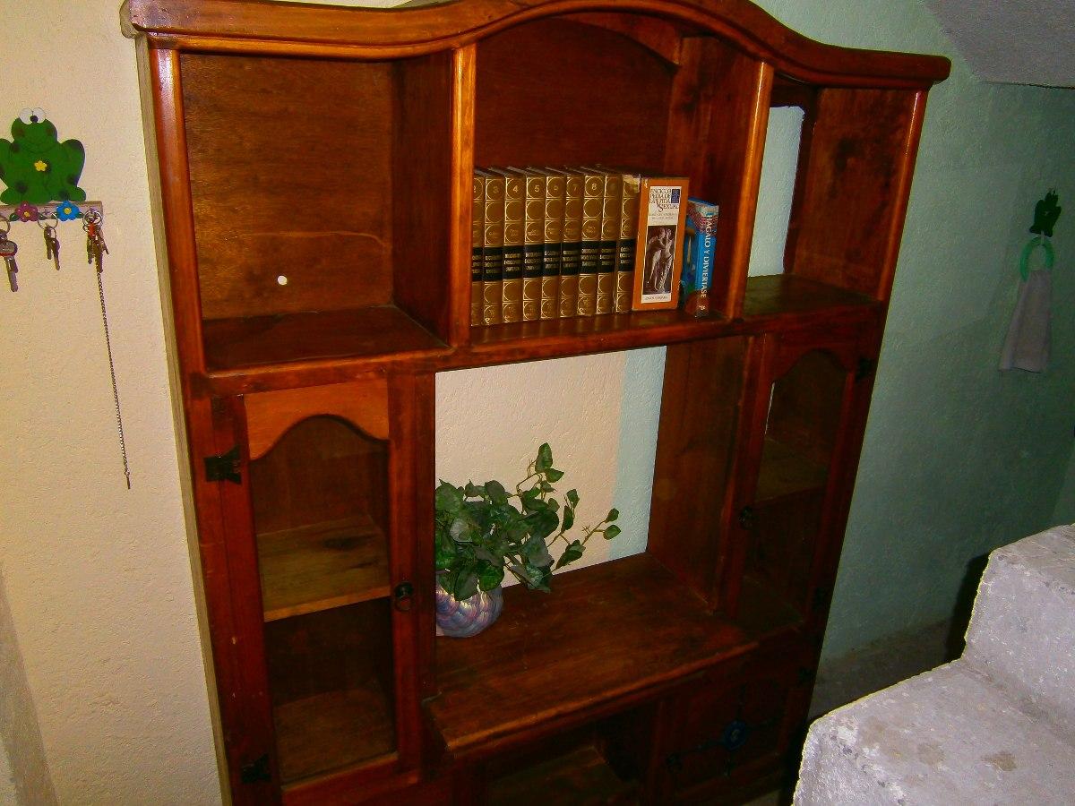 Mueble centro de entretenimiento r stico madera de pino 2 en mercado libre - Muebles rusticos de pino ...