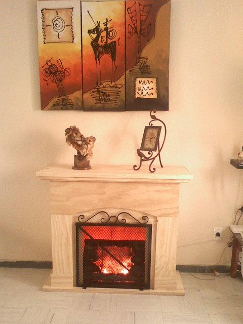 Mueble chimenea decorativo electrica 7 en mercado libre - Chimenea electrica mueble ...