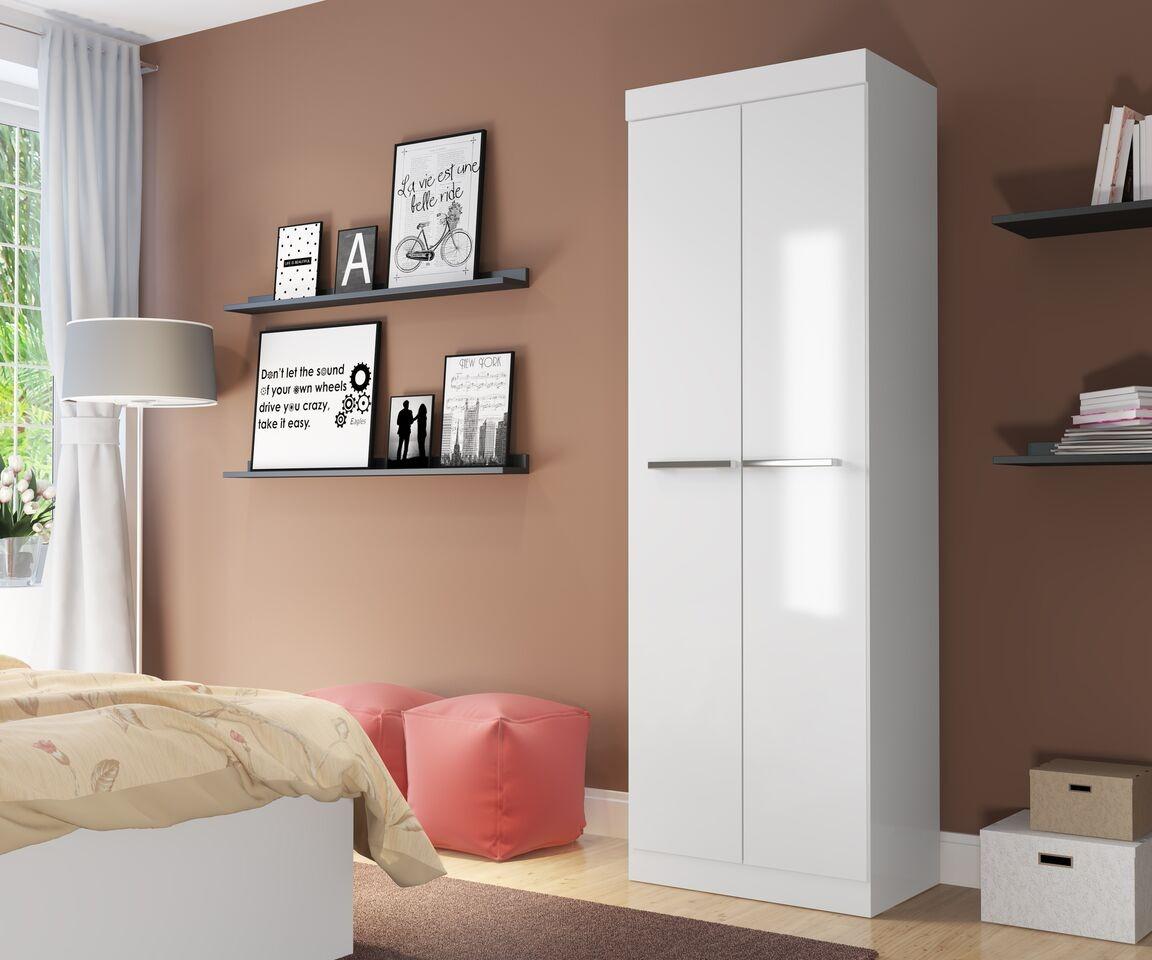 Mueble Closet Doble Puerta (blancotabaco) Moveis Metinca  $ 29990