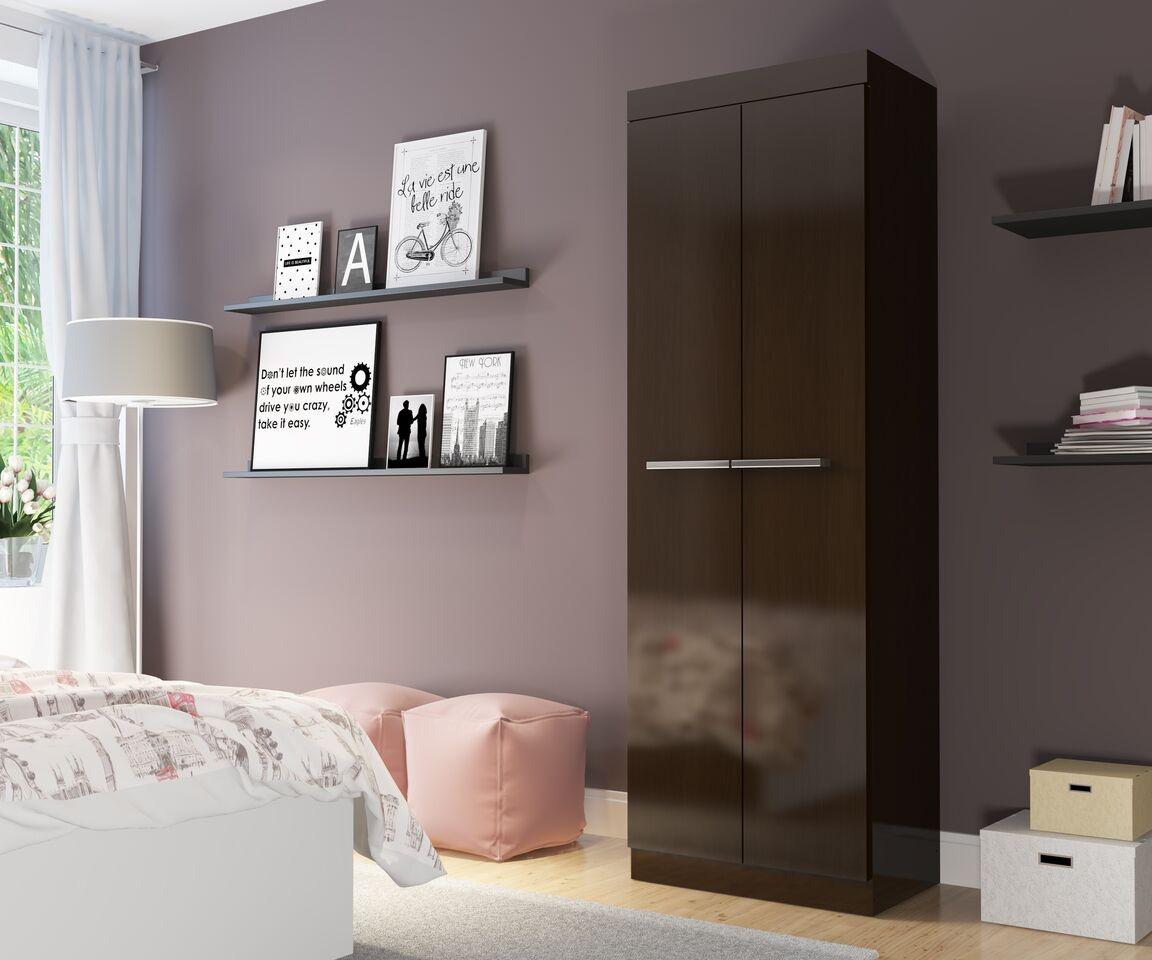 Mueble Closet Doble Puerta Rp8020 Blanco Moveis Metinca 29 990  # Muebles Metinca