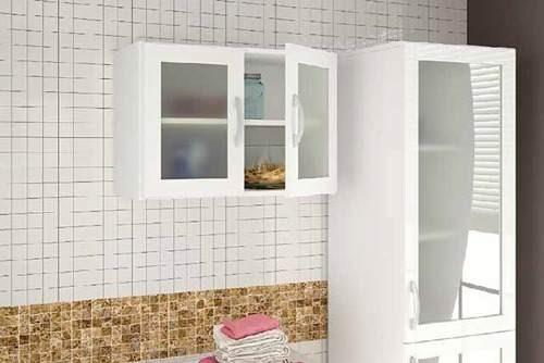 Mueble Cocina 2 Puertas Colgante Estante Vidrio 63x45x31 Cm ...