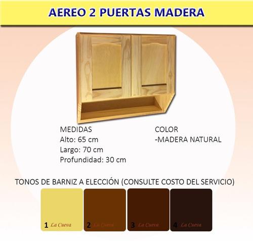 Mueble de cocina aereo 2 puertas alacena madera for Muebles aereos para cocina en uruguay