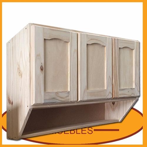 Mueble de cocina aereo 3 puertas alacena madera lcm - Mueble alacena cocina ...