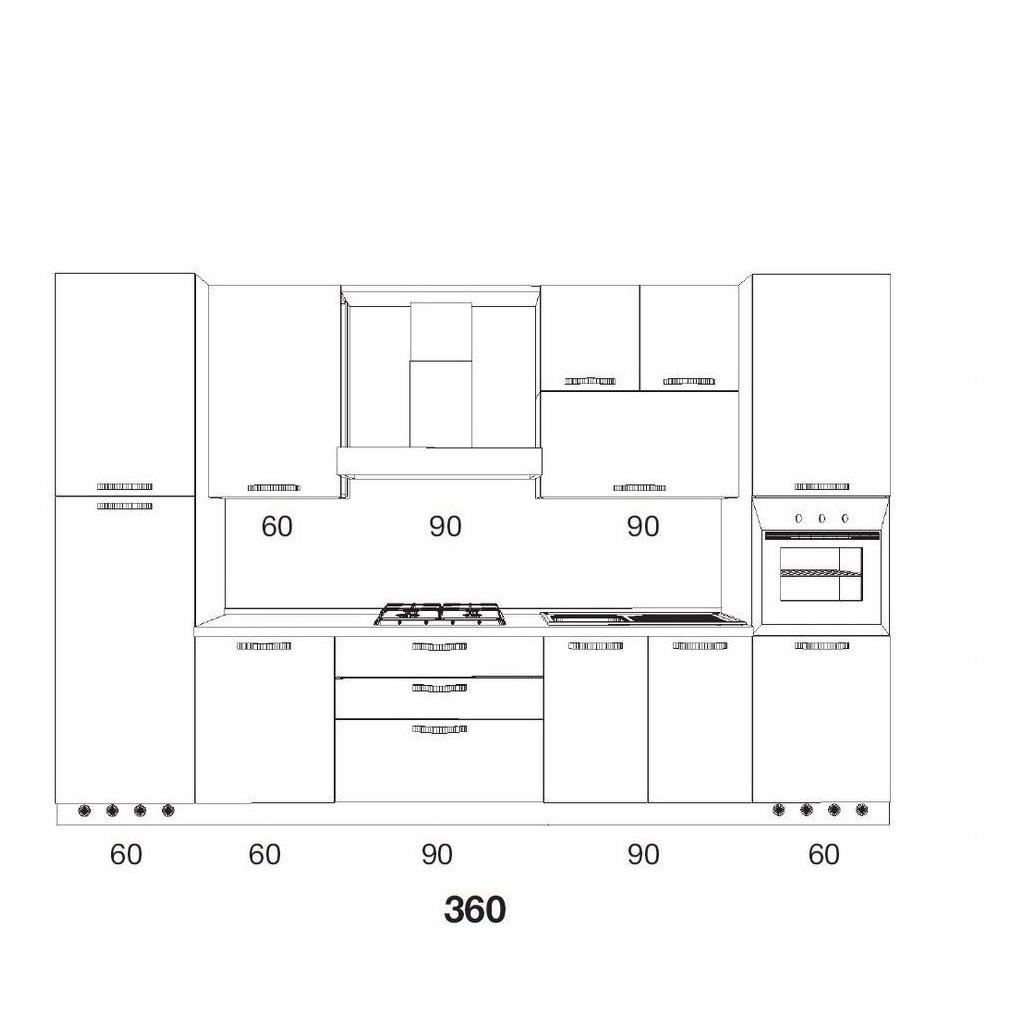 Mueble Cocina Bajo Mesada Alacena Vaijillero Porta Horno