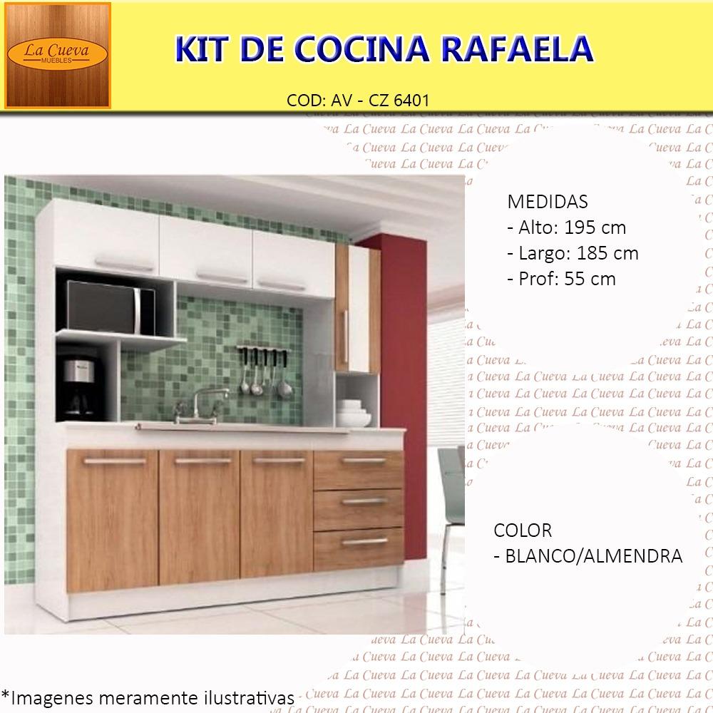Mueble De Cocina Rafa Kit Alacena Mesada Aereo Lcm