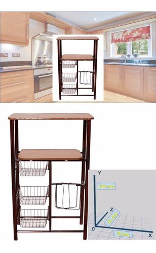 mueble cocina alacena porta garrafón microondas 3 fruteros