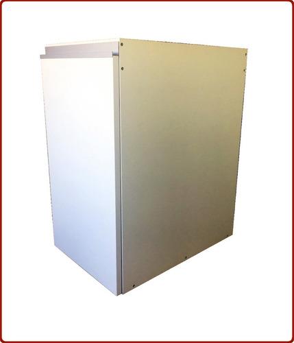 mueble cocina alacena y bajo de 160 blanco perfil j y vidrio