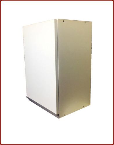 mueble cocina alacena y bajo de140 blanco perfil j aluminio