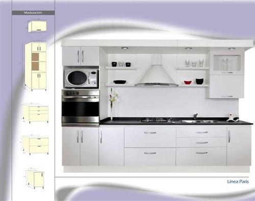 Mueble cocina modelo paris laqueado blanco amoblamientos fl ...