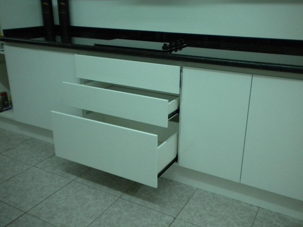 Mueble Cocina Laqueado Brillante Blanco P Amoblamientos Fl