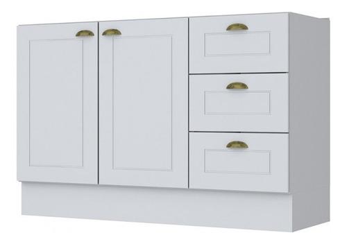 mueble cocina bajo mesada 2 puertas 3 cajones 120cm en mdf