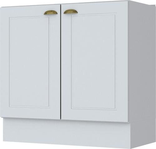 mueble cocina bajo mesada 2 puertas linea americana mdf