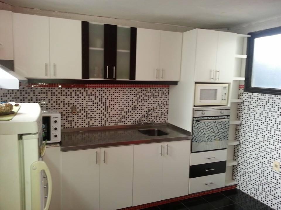 Mueble de cocina completo aereo bajo mesada torre para for Mueble aereo cocina uruguay