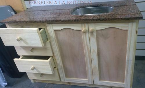 Mueble de cocina bajo mesada c mesada granito for Mueble bajo rinconera cocina