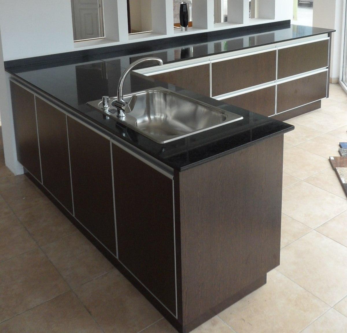 Mueble Cocina Color Bajo Mesada L Aluminio Amoblamientos Fl ...
