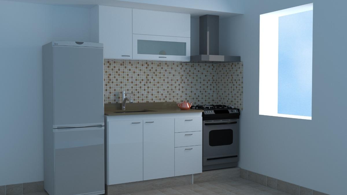Mueble-cocina-combo 1,20 Mt-armado Melamina 18 Mm-blanco - $ 8.109 ...