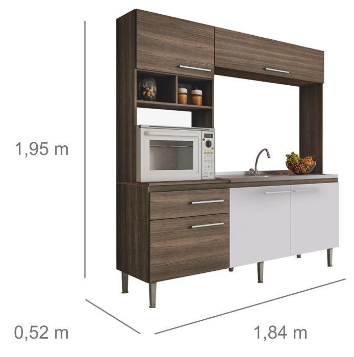 Mueble Cocina Compacta Mesada Aereos Cocina Divino - $ 5.770,00 en ...