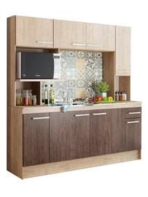 Mueble Cocina Compacta + Mesada + Pileta Acero Incluida Lg