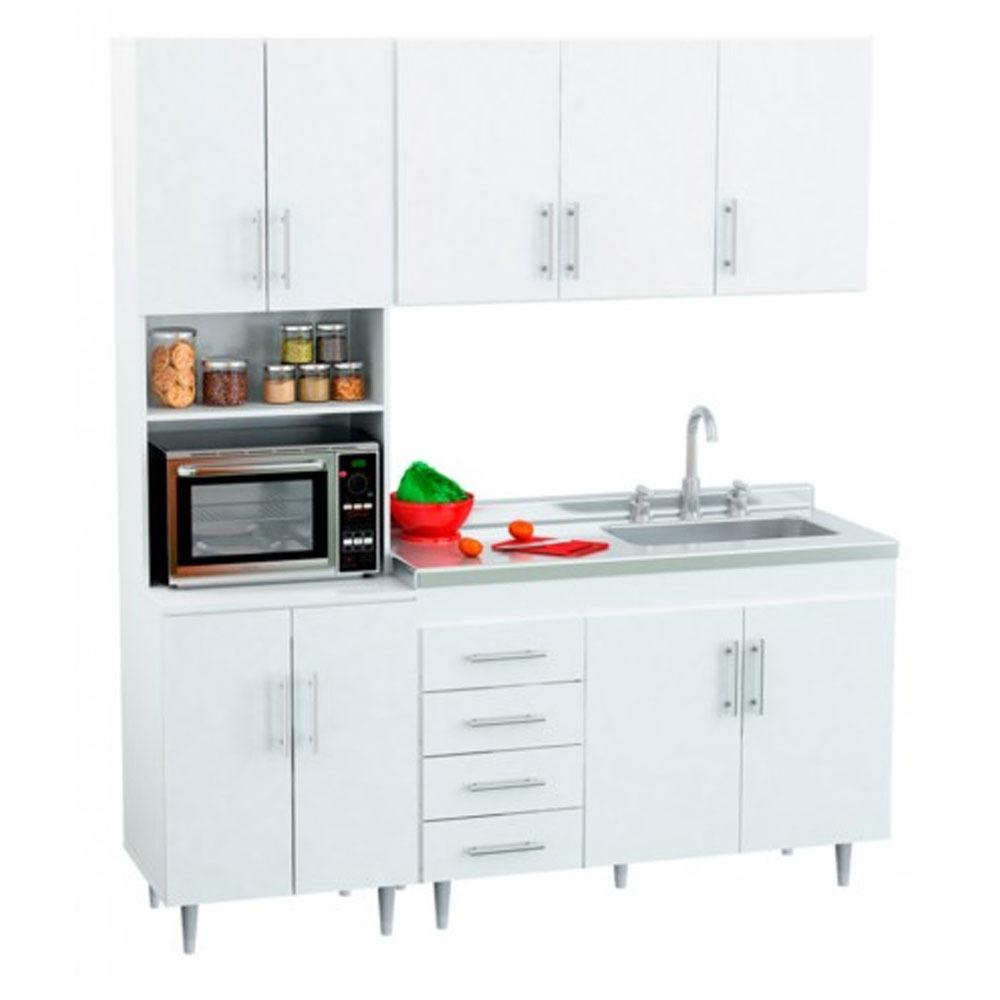 Mueble Cocina Completa Bajomesada Bacha Alacena Organizador ...