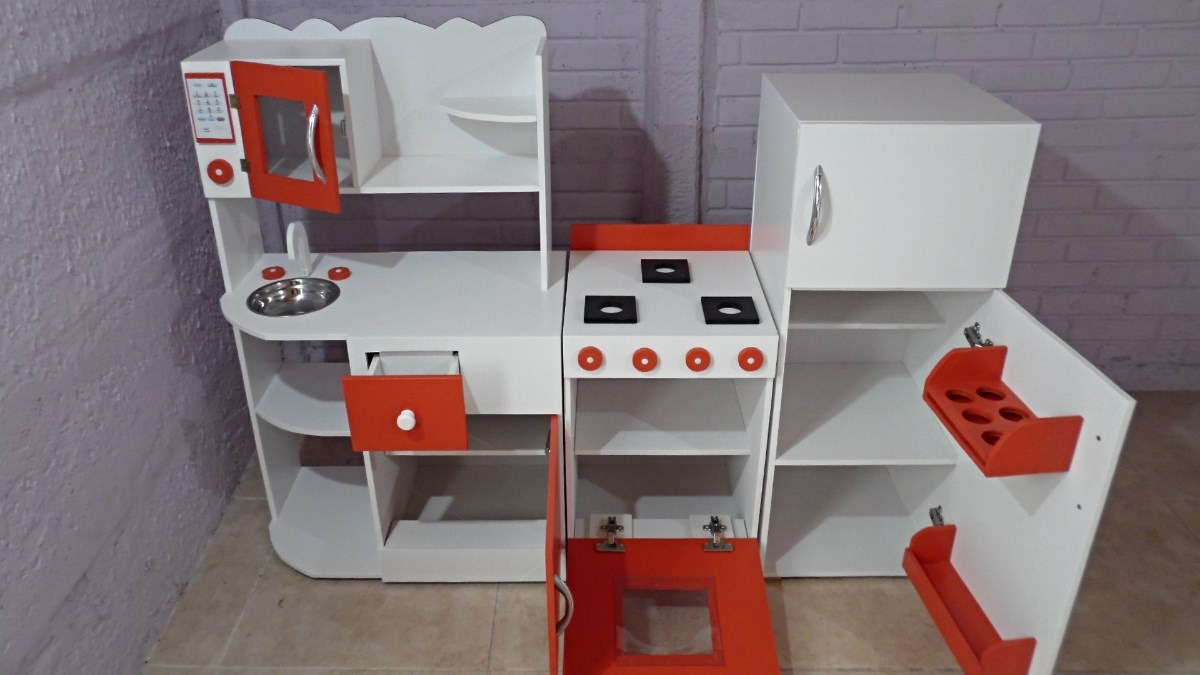 Mueble Cocina Infantil Rincon Juego Casita Infantil Madera  # Muebles Infantiles Lupi Love