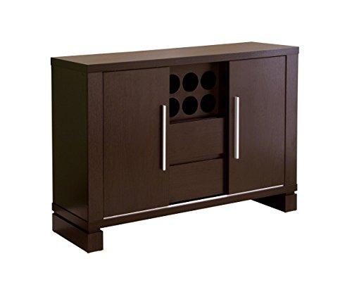 Mueble Cocina Iohomes Studio Buffet With Wine Holder, Cappuc