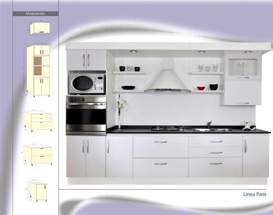 Mueble Cocina Laca Brillo Bco. Prisma. Amoblamiento Fl. - $ 58.230 ...