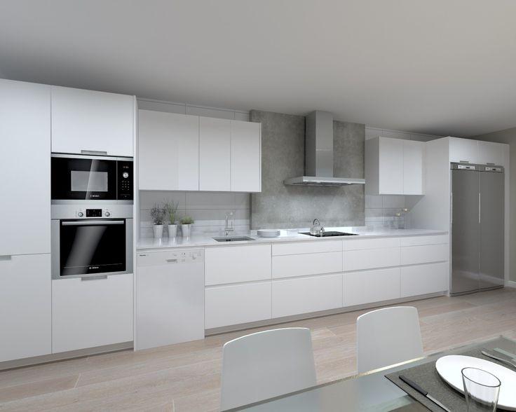 Mueble Cocina Laqueado Poliuretanico Blanco Negro Brillante - $ 600 ...