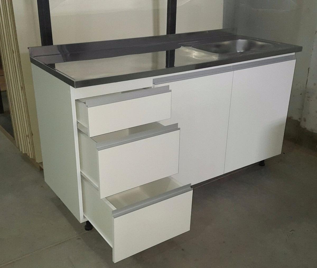Mueble De Cocina Bajomesada 1 40 Melamina Blanca 18mm 4 063  # Muebles Rio Gallegos
