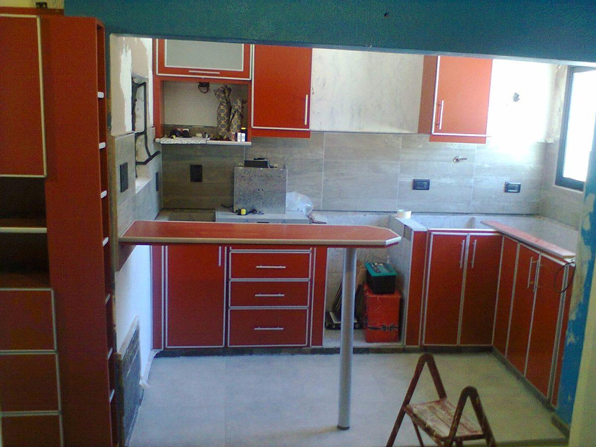 Mueble Cocina ,melamina Con Aluminio Guías De Ruedas - $ 3.500,00 en ...