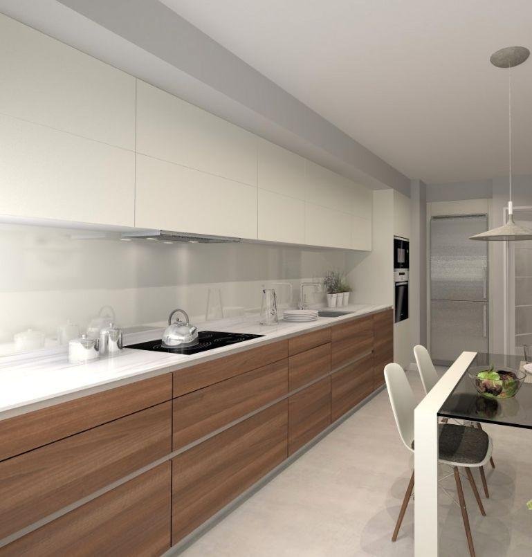 Mueble Cocina Moderno Alacena Blanca -1 Mt- Fábrica