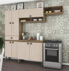 Mueble Cocina Modular Elissa Beige/roble - Iken