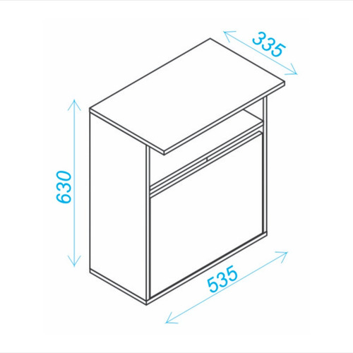 mueble cocina organizador y micronda bmu 21-23