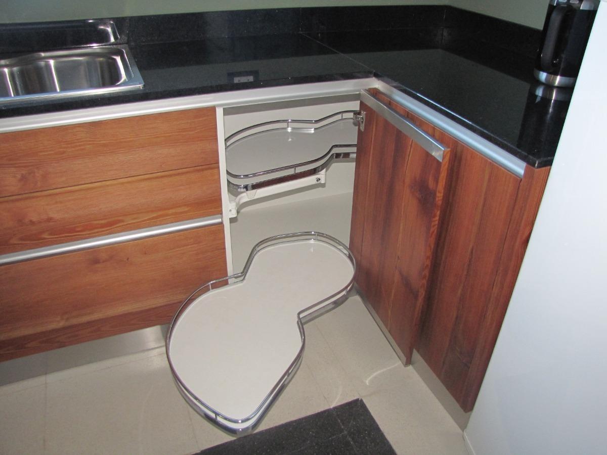 Mueble Cocina Pino Tea Alta Gama Interiores Acero Inox Modulos Estanco P Fregadero Herrajes Grass Kesseböhmer Blum