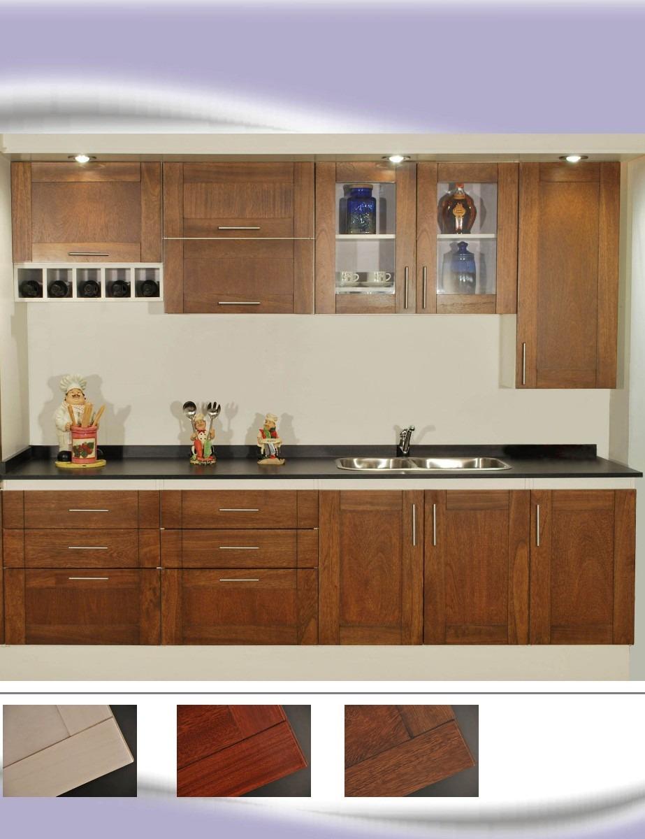 Mueble Cocina Puertas Madera Maciza Orba Amoblamientos Fl - $ 69.345 ...