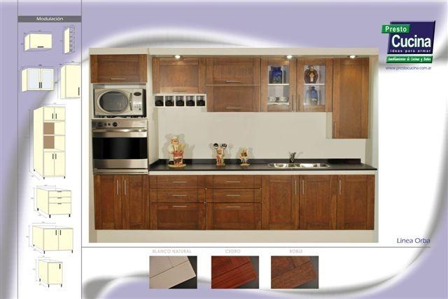 Mueble Cocina Puertas Madera Maciza Orba Amoblamientos Fl - $ 40.370 ...