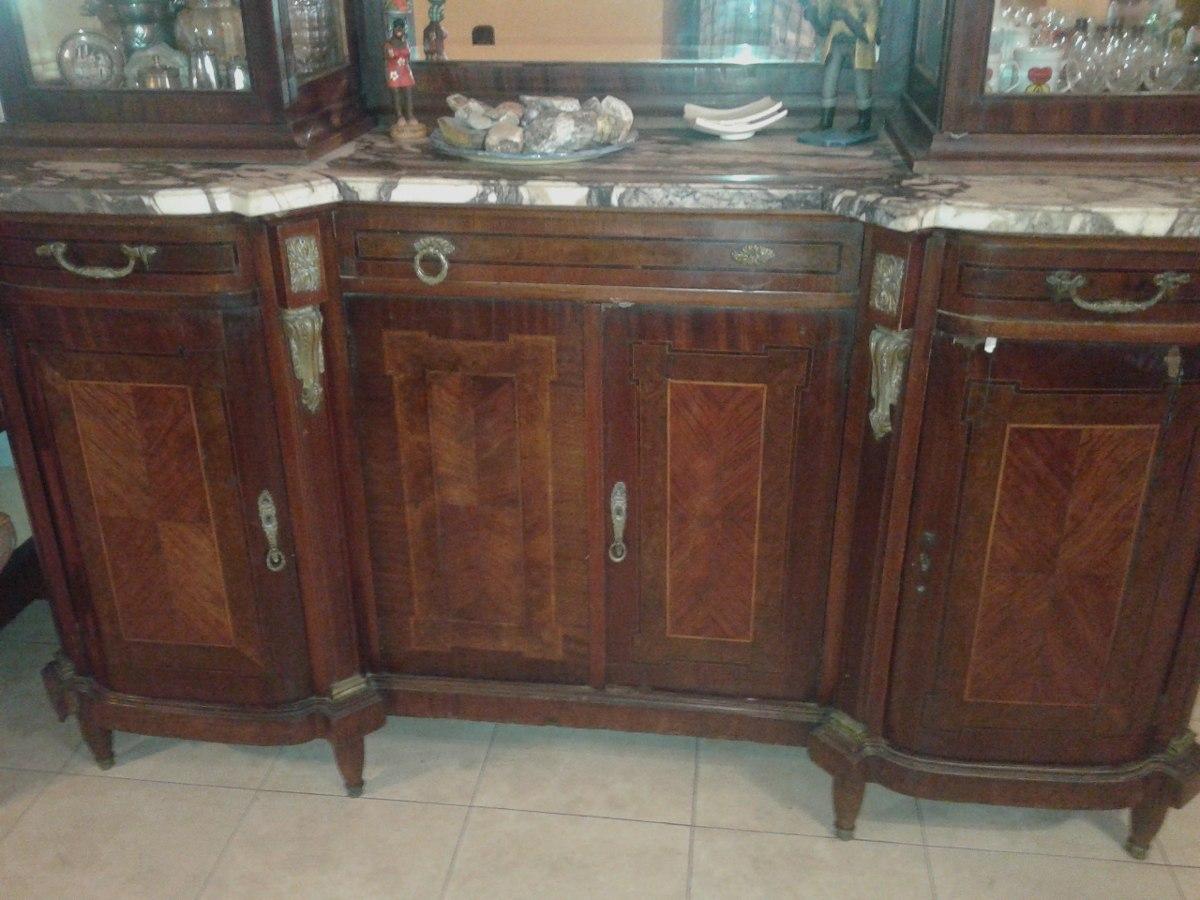 Mueble De Comedor Antiguo Con Marmol Cristalero Excelente - $ 40.000 ...