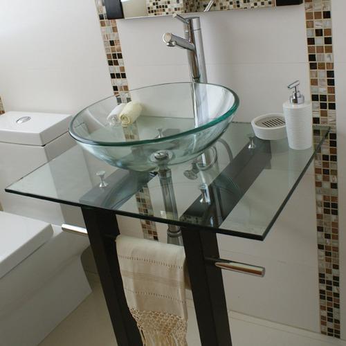 Lavabos Para Baños Cristal:Mueble Con Lavabo Y Espejo De Cristal Modelo Vigo N038tb – $ 4,23759