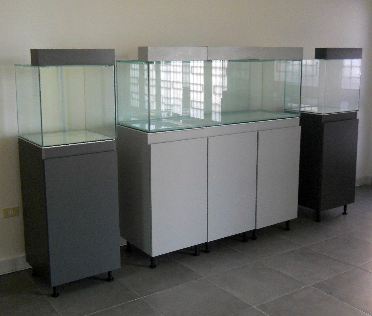 Mueble Con Pecera Cubo De 50x 125 Lts E Iluminador 4 500 00  # Muebles Nazca Y Nogoya