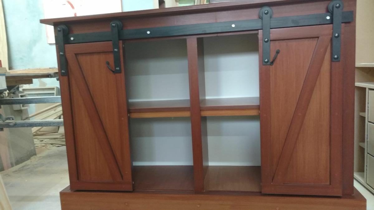 Mueble Con Puertas Granero 2.00 Mts - $ 22.375,00 en Mercado Libre