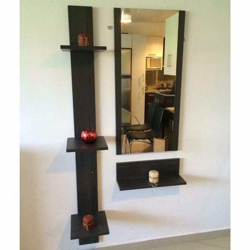 Mueble consola con espejo recibidor minimalista bs 689 for Espejos decorativos para recibidor