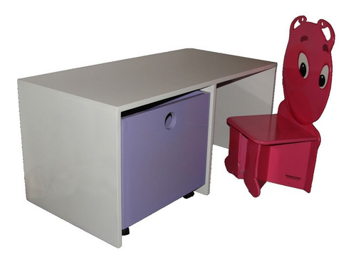 mueble cubre juguetero doble + juguetero + sillita infantil