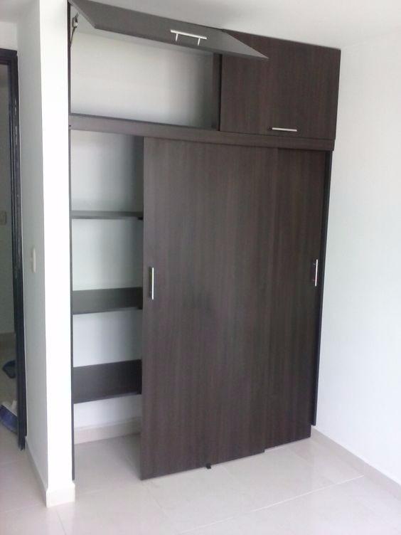 Mueble d melamina para dormitorio closet s 749 00 en for Modelos de closets para dormitorios