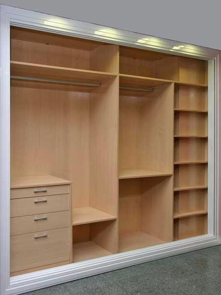 Mueble d melamina para dormitorio closet s 749 00 en for Disenos de closet para dormitorios pequenos