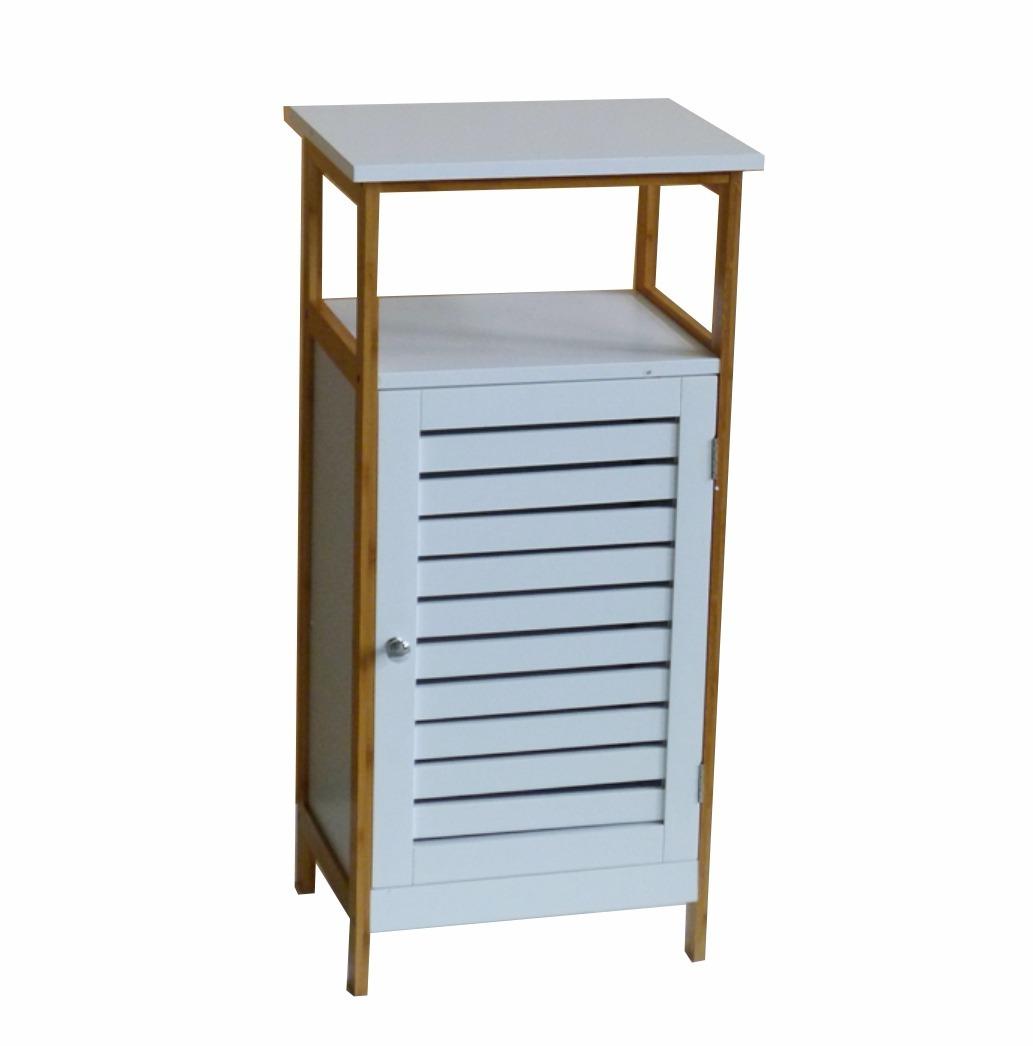 Mueble De Bamb 3 Estantes 1 Puerta Color Blanco 1 979 00  # Muebles Debambu