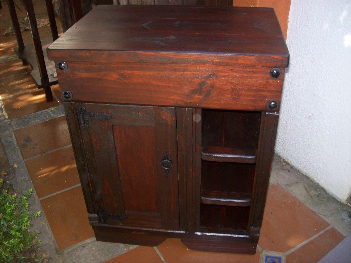 Mueble de ba o 100 madera maciza puerta y estantes 7 - Mueble de bano de madera ...