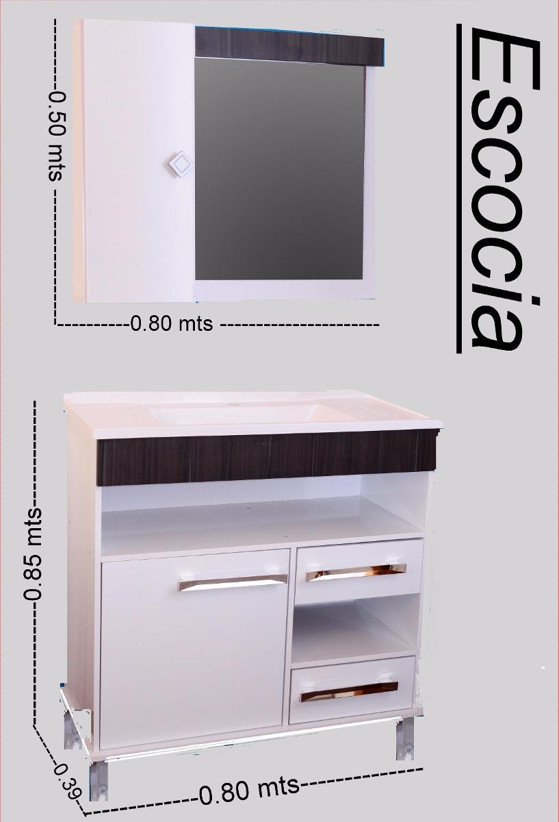 Mueble de ba o armado incluido bacha botiquin espejo 5 for Muebles bano montevideo
